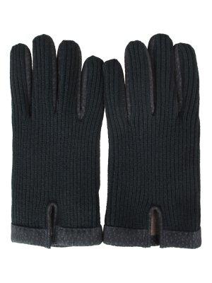 Элегантные перчатки MONTEVERDI. Цвет: зеленый