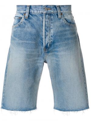 Джинсовые шорты Bal Balenciaga. Цвет: синий