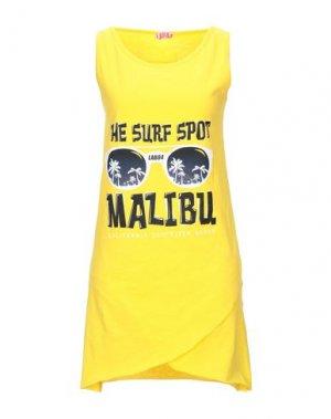 Футболка LAB84. Цвет: желтый