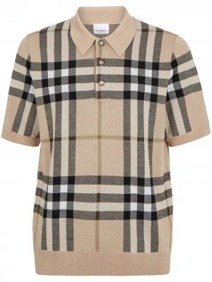 Рубашка поло Wellman в клетку Vintage Check Burberry. Цвет: нейтральные цвета
