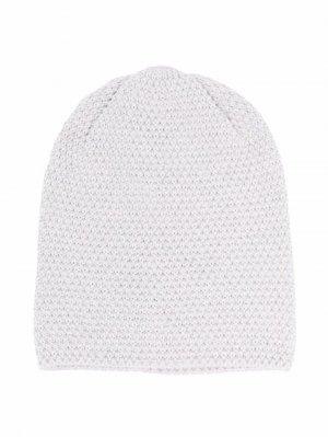 Chunky-knit wool beanie Little Bear. Цвет: серый