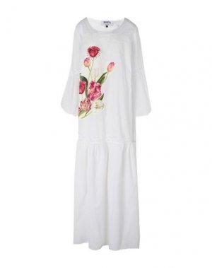 Длинное платье MARTA STUDIO. Цвет: белый