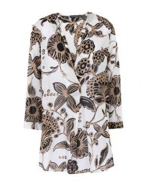 Блузка SANDRO FERRONE. Цвет: белый