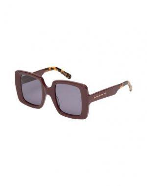 Солнечные очки KAREN WALKER. Цвет: красно-коричневый