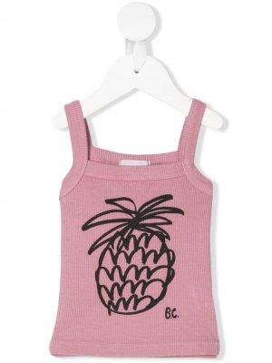 Pineapple print top Bobo Choses. Цвет: розовый