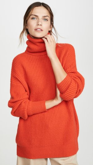 Oversize Cashmere Turtleneck Autumn