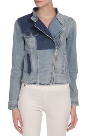 Куртка джинсовая PINKO TAG. Цвет: синий