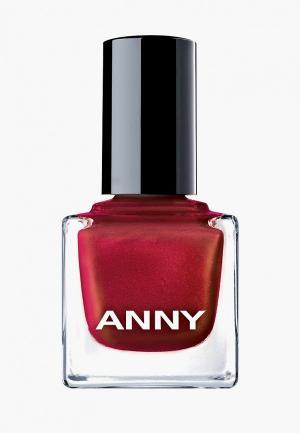 Лак для ногтей Anny тон 122.40 мерцающий красный. Цвет: красный