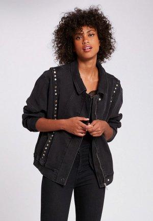 Куртка джинсовая Morgan. Цвет: черный