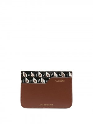 Картхолдер с логотипом Anya Hindmarch. Цвет: коричневый