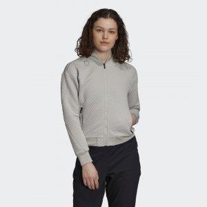 Флисовая куртка-бомбер для хайкинга TERREX adidas. Цвет: серый