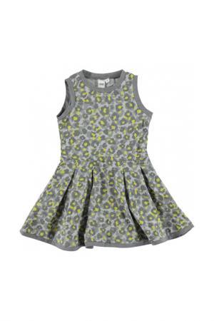 Платье IDO. Цвет: серо-желтый