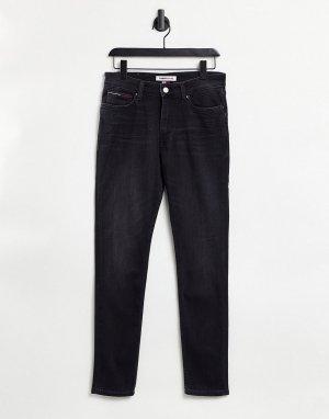 Зауженные джинсы выбеленного черного цвета Simon-Черный цвет Tommy Jeans
