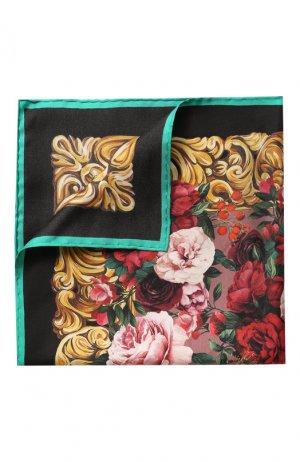 Шелковый платок Dolce & Gabbana. Цвет: разноцветный