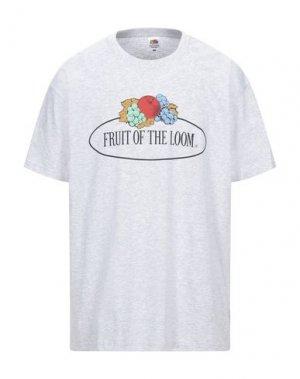 Футболка FRUIT OF THE LOOM. Цвет: светло-серый