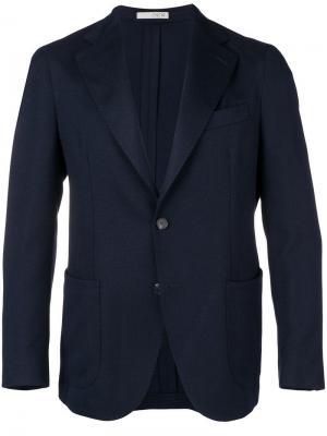 Однобортный костюмный пиджак 0909. Цвет: синий