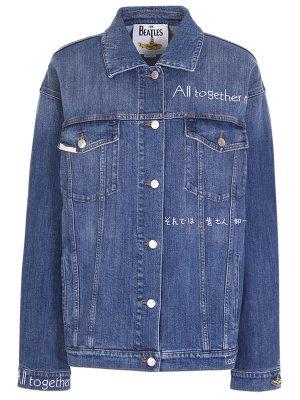 Куртка джинсовая STELLA MCCARTNEY. Цвет: синий