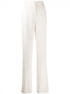 Полосатые брюки строгого кроя Max Mara. Цвет: нейтральные цвета