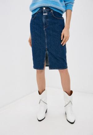 Юбка джинсовая Closed. Цвет: синий