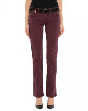 Повседневные брюки JAGGY. Цвет: баклажанный
