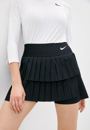 Юбка-шорты Nike W NKCT DF ADVTG SKIRT PLEATED. Цвет: черный