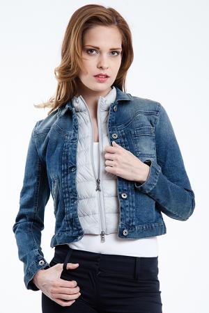 Джинсовая куртка Patrizia Pepe. Цвет: синий