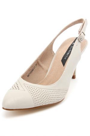 Туфли открытые Elisabeth. Цвет: серый