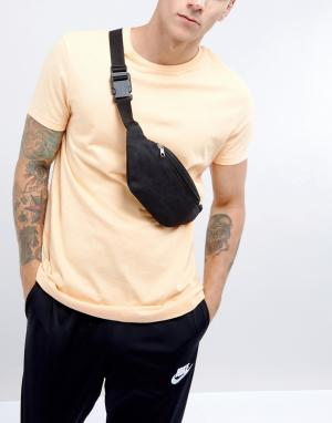Фестивальная парусиновая сумка-кошелек на пояс 7X. Цвет: черный