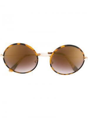 Солнцезащитные очки Yoko Spektre. Цвет: коричневый