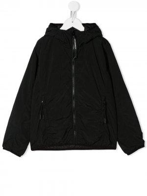 Куртка на молнии и линзами капюшоне C.P. Company Kids. Цвет: черный