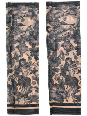 Нарукавники с принтом татуировок Dsquared2. Цвет: многоцветный