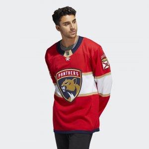 Оригинальный хоккейный свитер Panthers Home Performance adidas. Цвет: красный