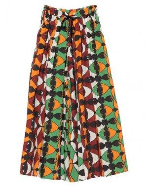 Длинная юбка HACHE. Цвет: зеленый