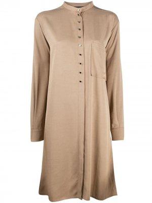 Платье-рубашка на пуговицах 8pm. Цвет: коричневый