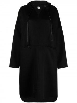 Пальто-анорак с капюшоном Totême. Цвет: черный