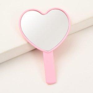 Портативное зеркало для макияжа мини SHEIN. Цвет: розовые