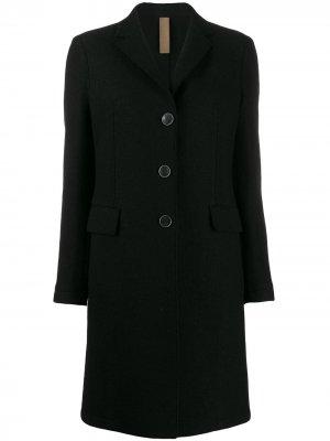 Однобортное пальто длины миди Eleventy. Цвет: черный