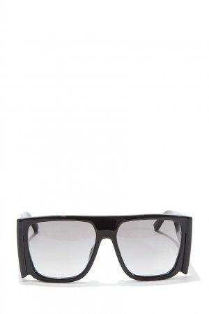 Солнцезащитные очки в черной оправе оверсайз Magda Butrym Linda Farrow. Цвет: черный