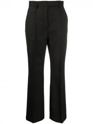Укороченные брюки строгого кроя с завышенной талией Acne Studios. Цвет: черный