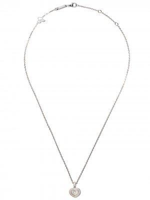 Цепочка с подвеской Happy Hearts из белого золота бриллиантами Chopard. Цвет: белый