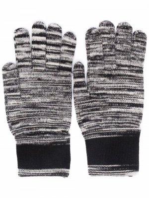 Перчатки в полоску Missoni. Цвет: черный