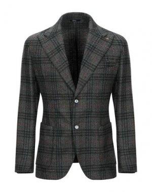 Пиджак EXIGO. Цвет: темно-зеленый