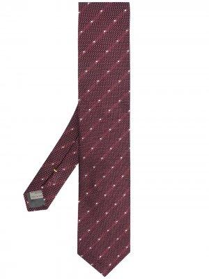 Жаккардовый галстук Canali. Цвет: красный