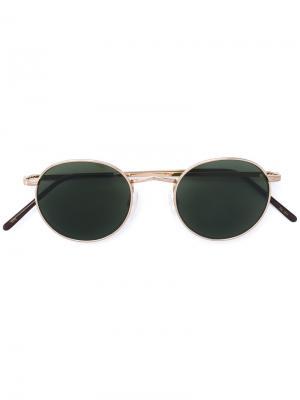 Солнцезащитные очки Dov Moscot. Цвет: металлический