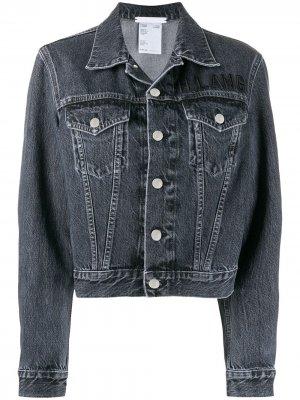 Укороченная джинсовая куртка Helmut Lang. Цвет: серый