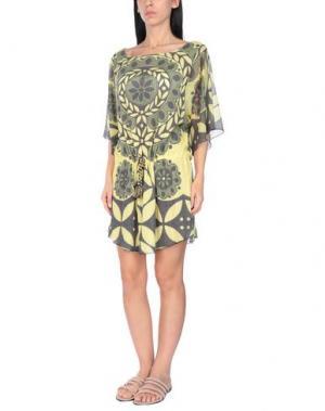 Пляжное платье AGOGOA. Цвет: зеленый-милитари