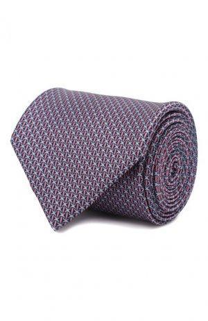 Комплект из галстука и платка Brioni. Цвет: розовый