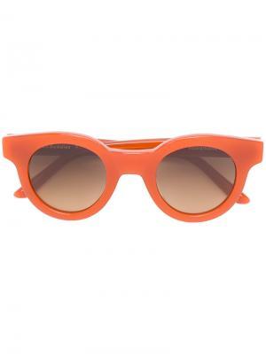 Солнцезащитные очки с круглой оправой Sun Buddies. Цвет: жёлтый и оранжевый