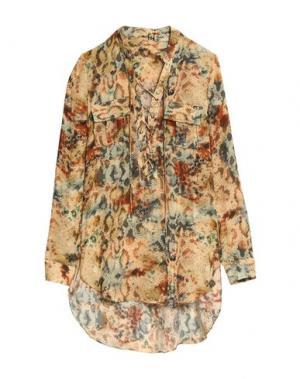 Блузка HAUTE HIPPIE. Цвет: песочный