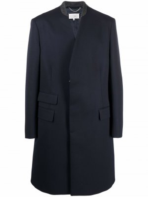 Mid-length button coat Maison Margiela. Цвет: синий